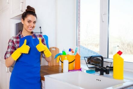 What should a cleaning lady do